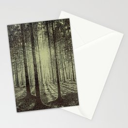 Victor Olgyay - Sunset - 1910 Sunrise Through Tree Forest Silhouette Stationery Cards