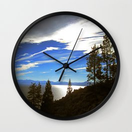 Shadowy North Lake Tahoe Wall Clock