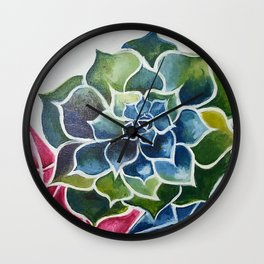 Succulents & Crystals Wall Clock