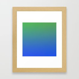 RESTING STATE - Minimal Plain Soft Mood Color Blend Prints Framed Art Print