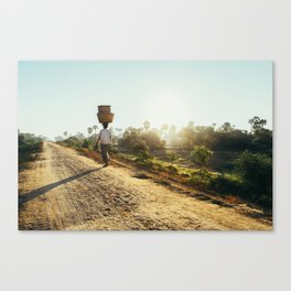 Burmese BasketWoman Canvas Print