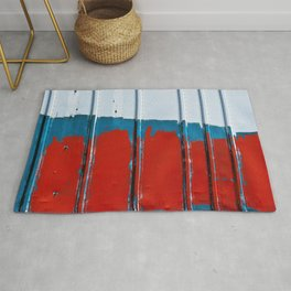 Paint On COntainer In Red White Blue Rug