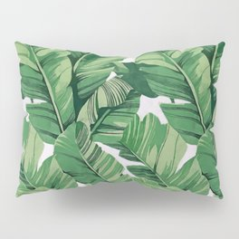Tropical banana leaves V Pillow Sham