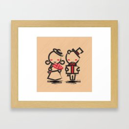 Lovely Couple in 4 Colours Framed Art Print