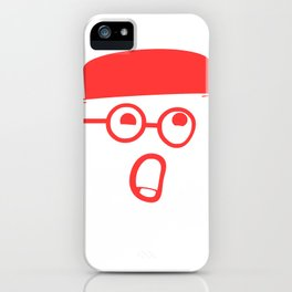 My typeface is melting! iPhone Case