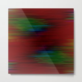 Warp lines abstract pattern Metal Print