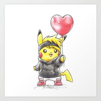 projectrocket Art Prints featuring iHeart Birdychu by Randy C