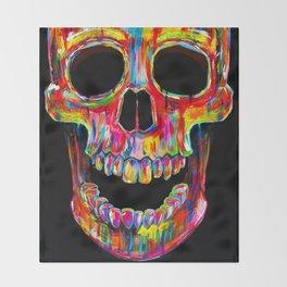 Chromatic Skull Throw Blanket