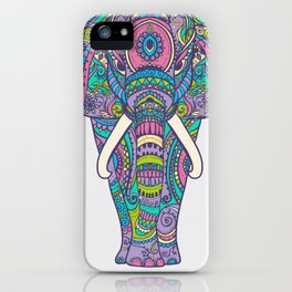 Elephant in Colors iPhone Case