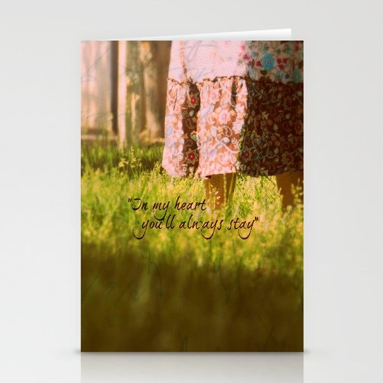 """In my heart you'll always stay"" Stationery Cards"
