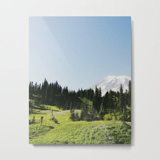 Mt Rainier Shooter Metal Print