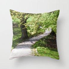 Green breath of spring Throw Pillow