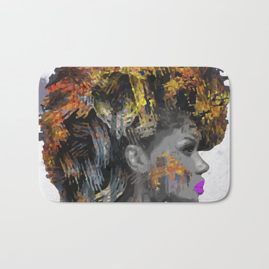 Afro-Girl Bath Mat