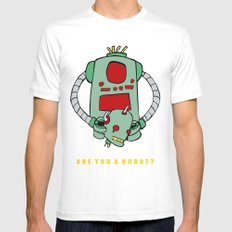 Are We Robot? Mens Fitted Tee White MEDIUM