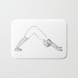 yoga pose 4 Bath Mat