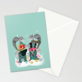 Squirrels' Christmas by Andrea Lauren  Stationery Cards