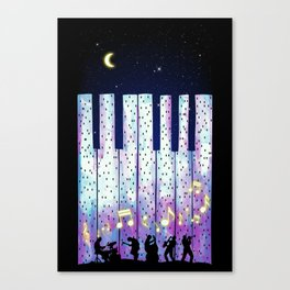 Harmony In The Night Canvas Print