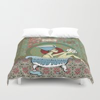 obama Duvet Covers featuring Nefertiti or Let me be clear by KRNago