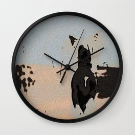 Chinese crested 5 Wall Clock