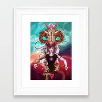 occult Framed Art Prints featuring Occult allegory by Kami-katamari