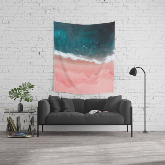 Turquoise Sea Pastel Beach III Wall Tapestry by nauticaldecor | Society6
