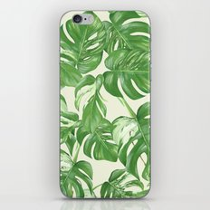 Monstera tropical leaves pattern iPhone Skin