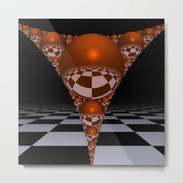 Apollonian gasket - orange Metal Print
