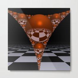 Apollonian gasket - orange Metal Print