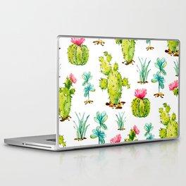 Green Cactus Watercolor Laptop & iPad Skin
