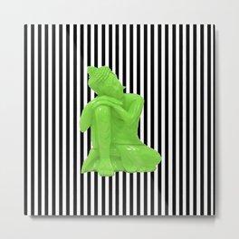 My  inner Green Buddha | Namaste Pop Art Buddha Metal Print