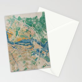 Amsterdam, the watercolor beauty Stationery Cards