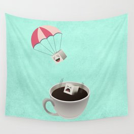 Sugar Cubes Jumping in a Cup of Coffee Wall Tapestry