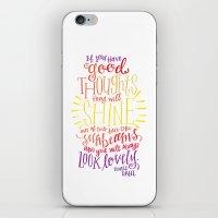 roald dahl iPhone & iPod Skins featuring You Will Always Look Lovely [Roald Dahl] by Jillian Kaye