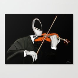 Corky the Violinist Canvas Print