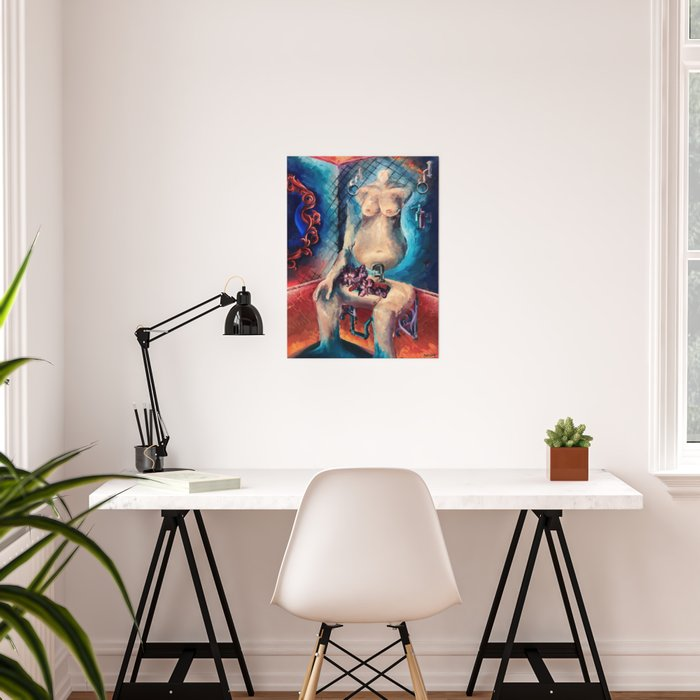 """""""Self Portrait"""" Painting Poster"""