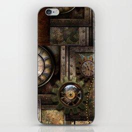 Steampunk, wonderful clockwork with gears iPhone Skin