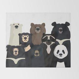 Bear family portrait Throw Blanket
