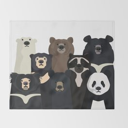 Bear family portrait Throw Blanket