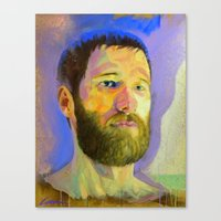 marc allante Canvas Prints featuring Marc-Andre by Bryan Lanier