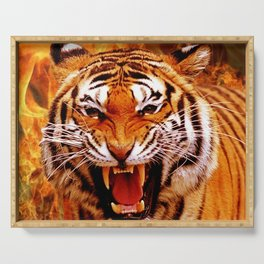 Tiger and Flame Serving Tray