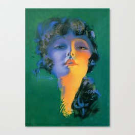 """""""Girl of My Dreams"""" Pinup by Rolf Armstrong Canvas Print"""