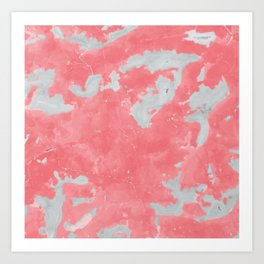pink marble pattern Art Print