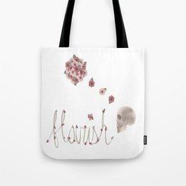 Flourish print and type Tote Bag