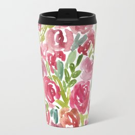 Maya's Garden Watercolor Painting Travel Mug