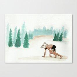 Canis Lupus Signatus(Lobo Iberico, Iberian wolf) Canvas Print