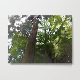 Stag Beetle in the Forest Metal Print