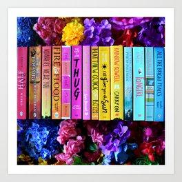 Rainbow Book Spines Art Print