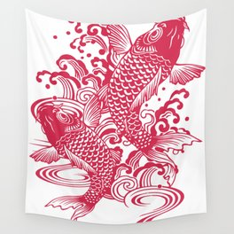 Red Koi Wall Tapestry