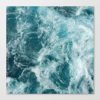 sea Canvas Prints featuring Sea by Vickn