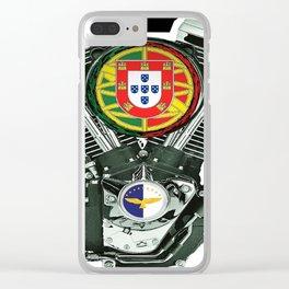 Portuguese Checker Board. Clear iPhone Case